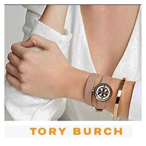 Tory Burch Double wrap leather watch